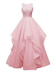 Pink Ball Gown Scoop Neck Organza Sleeveless Beading Long Prom Dress sold by floralprintdress. Shop more products from floralprintdress on Storenvy, the home of independent small businesses all over the world. Grad Dresses, Dance Dresses, Homecoming Dresses, Evening Dresses, Bridesmaid Dresses, Formal Dresses, Pink Prom Dresses, Dresses 2016, Prom Gowns