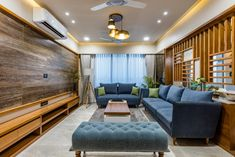 Ways To Use That Room Below Your Stairs Vertis : A House With Diversity Yet Subtlety Misa Architects - The Architects Diary Living Room Designs India, Living Room Tv Unit Designs, Home Design Living Room, Living Room Decor, Living Spaces, Indian Home Design, Indian Home Interior, Bedroom False Ceiling Design, Design Bedroom