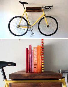 Bike storage & book shelf!