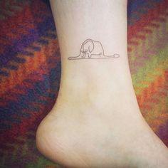 Tatuaje del principito en el pie