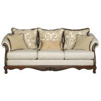 Champagne Gold Traditional Upholstered Sofa - Repertoire