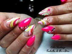 Diário Feminino: Unhas   - Lolipop Nails (Acrílico )  - Mês de Julh...