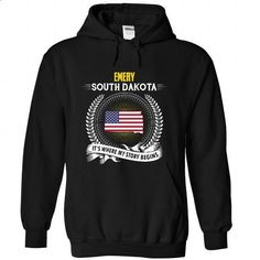 Born in EMERY-SOUTH DAKOTA V01 - #blusas shirt #sweatshirt skirt. CHECK PRICE => https://www.sunfrog.com/States/Born-in-EMERY-2DSOUTH-DAKOTA-V01-Black-Hoodie.html?68278