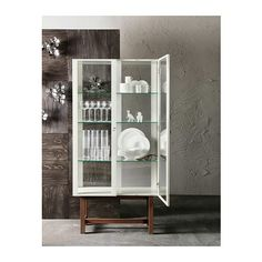 Really like the look of this cabinet for all my crockery. It will also compliment the walnut flooring nicely. http://m.ikea.com/ie/en/catalog/products/art/90239733/