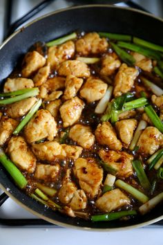 Mongolian Chicken ~  A sweet and savory, healthier alternative to the classic Mongolian beef  with ingredients that pack a punch! Modify with GF soy sauce