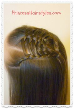 Woven Pyramid Half Up Hairstyle from Princess Hairstyles