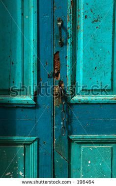 Old Front Door - stock photo