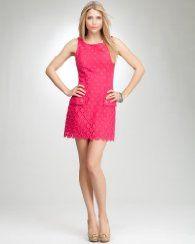 e97332c4f45 Bebe boatneck eyelet dress in rose