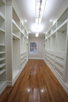 Built-in Master Closet.  This is amazing!  Sorry Bobby.....still don't think it would be big enough for you!