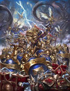 Hammers of Sigmar vs Bloodwarriors #ageofsigmar #warhammer #art #fantasy #aos #gamesworkshop #Stormcast #Chaos