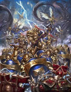 Hammers of Sigmar vs Bloodwarriors  #ageofsigmar #warhammer #art #fantasy #aos #gamesworkshop #Stormcast #Chaos