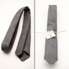 One hell of a sexy tie there.  $32.00    http://www.etsy.com/listing/92390752/skinny-handmade-charcoal-wool-felt