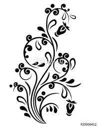 Resultado de imagen para imagenes de flores para bordar blanco y negro