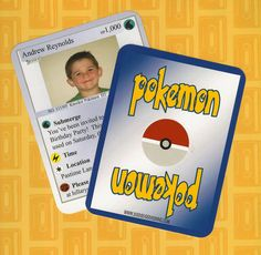 Pokemon Party Invitation with Colored Backside
