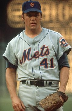 Tom Seaver, New York Mets - Greenwich, CT, ca 1976.  It was at the Food Mart on lower Greenwich Ave.  I think running into Tom Seaver or his wife was a rite of passage for kids who grew up in central Greenwich in the 70s.