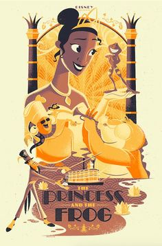 This print of The Princess and the Frog by Josh Holtsclaw will be available at the art tribute to the Disney Films of Ron Clements & John Musker Gallery Exhibition.