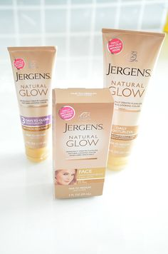 Jergens Natural Glow, 3 Days to Glow, and Jergens Natural Glow for the Face