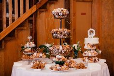 "wedding doanut  cake | Donut hole wedding ""cake"" table"