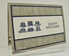 Stampin' Up! - Guy Greetings - Hats ....  Teri Pocock - http://teriscraftspot.blogspot.co.uk/2015/03/guy-greetings-hats.html