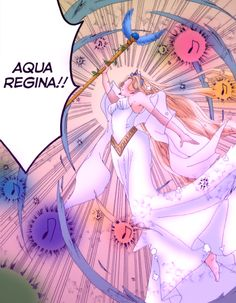 For this day, I've colored the Mother of the Seas, Aqua Regina!