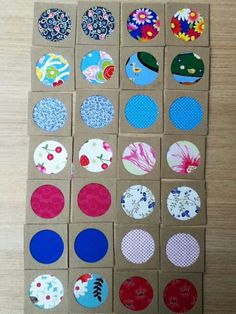 Multiple mini diameter) framed fabric scraps or our kids paint splats could look really good Motor Skills Activities, Preschool Learning Activities, Sensory Activities, Diy For Kids, Crafts For Kids, Kids Collage, Memory Games For Kids, Framed Fabric, Best Kids Toys