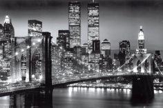 New York Manhattan Black - Berenholtz Posters at AllPosters.com || Get 20% off and 5% cash back here http://www.studentrate.com/School/Deals/BackToSchool.aspx