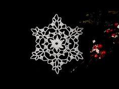 How to Crochet Snowflake #7 - YouTube