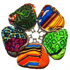 African print fabric coin purses