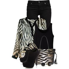"""Zebra"" by colierollers on Polyvore"