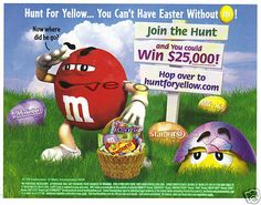 2009 magazine ad M&M EASTER Join the hunt mms M&M candy advertisement print