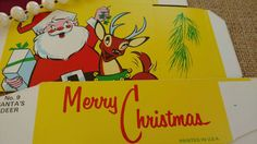 Check out this item in my Etsy shop https://www.etsy.com/listing/171122784/vintage-christmas-santa-claus-reindeer