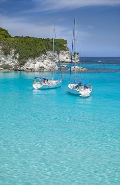 Sailing in Antipaxoi - who needs the Caribbean? YachtWorld Charters. #YWC