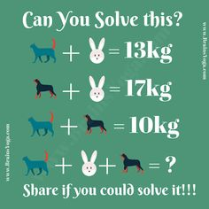 Simple Maths Equation Picture Puzzle with Answer