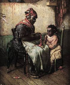 by Harry Herman Roseland i love this painting its folk art and african american history.