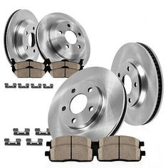 Front And Rear Quality Brake Rotors /& Ceramic Pads For 1999 2000 2001 ACURA RL