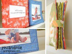Custom Fabric Photo Book   You and Mie