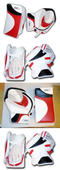 Gloves and Blockers 79763: Red White And Black Paw Ice Hockey Goalie Catcher And Blocker Gloves New -> BUY IT NOW ONLY: $350 on eBay!