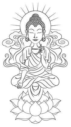 Buddha Tattoo by Scott Jackson, via Behance