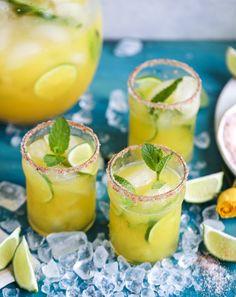 mint mango margarita punch I summer, summer drink, summer party, margarita recipe, cocktail, pitcher drinks, tequila  c
