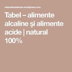Tabel – alimente alcaline şi alimente acide | natural 100% The 100, Fitness, Diet