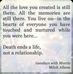Loss Quotes, Me Quotes, Qoutes, Quotes On Death, Tuesdays With Morrie, Mitch Albom, Grieving Quotes, Grief Loss, Wise Words