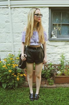 Lookbook Store Shirt, Vintage Leather Shorts, Shoemint Shoes
