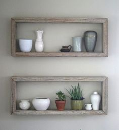 Rustic Wood Block Shelves from House of Habit
