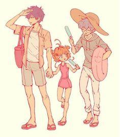Touya ,Sakura and Yukito