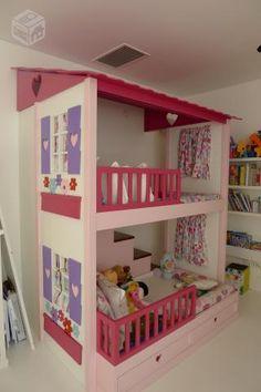 Cama beliche casinha de bonecas