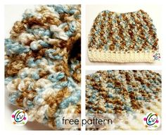 Free crochet messy bun beanie pattern by snappy tots