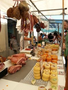 At the Mercado de Loulé on a Saturday when they have   everything, including several vendors of tasty cured Portuguese meat and cheese  by Andrea Smith @Andrea Smith An American in Portugal, Portuguese Food, Wine & Travel writer, Lisbon tour guide & Catavino blogger.
