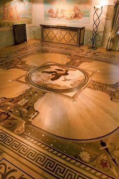 "Wood Flooring Laser Inlays - ""BERTI SUITE"" - Villa del Conte - Padua. #parquetlovers"