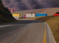 Approaching Storm by Railway - Jeffrey Smart - WikiPaintings.org