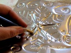 winter fairy free pattern embossed metal tutorial